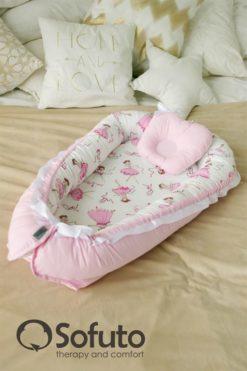 Newborn baby nest co-sleeper Sofuto Babynest Balerina