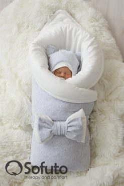 Newborn baby spring take home outfit clothing set (7 pcs) Sofuto baby Light grey
