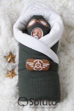 Newborn baby spring take home outfit clothing set (6 pcs) Sofuto Aviator