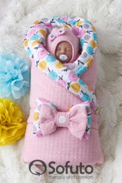 Newborn baby spring take home outfit clothing set (6 pcs) Sofuto Rosa dior