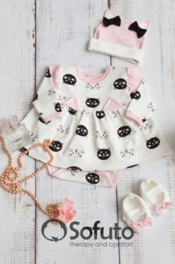 Infant Baby girl clothes set Sofuto baby Kitty-kat