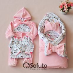 Caticorn Winter Newborn baby girl coming home outfit