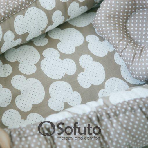 Newborn baby nest co-sleeper Sofuto Babynest Сoffee dots