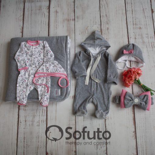Newborn baby spring take home outfit clothing set (6 pcs) Sofuto baby Veresk
