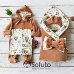 Teddy Winter Newborn baby boy coming home outfit