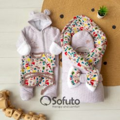 Animal travel Cold winter Newborn baby coming home outfit