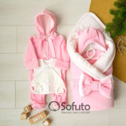 Rose simple Winter Newborn baby girl coming home outfit