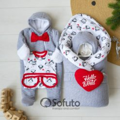 Lolo Cold winter Newborn baby coming home outfit