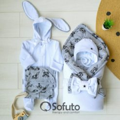 Rabbit Winter Newborn unisex baby coming home outfit