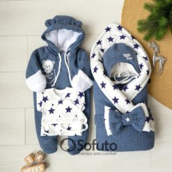 Little star Cold winter Newborn baby boy coming home outfit