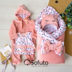 Valvina Winter Newborn baby girl coming home outfit
