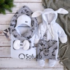Mr. Rabbit Cold winter Newborn baby boy coming home outfit
