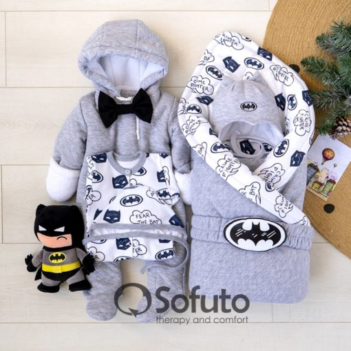 Batman Cold winter Newborn baby boy coming home outfit