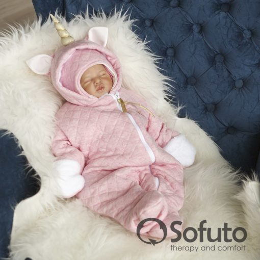 Magic unicorn Cold winter Newborn baby girl coming home outfit